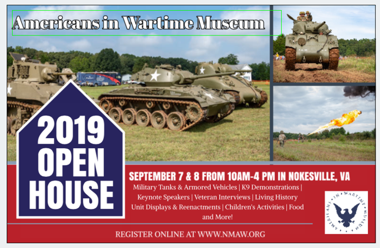 NMAW 2019 Open House