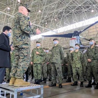 V-22 flights begin at Japan's Kisarazu Air Field