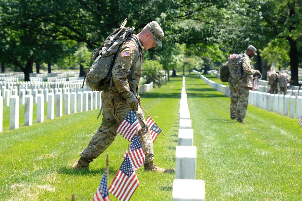 Severe weather does not halt Old Guard, Flags-In | Local