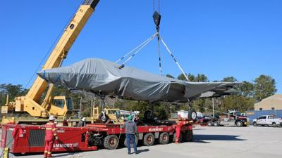 FRCE accepts barge delivery of F-35 airframe for training