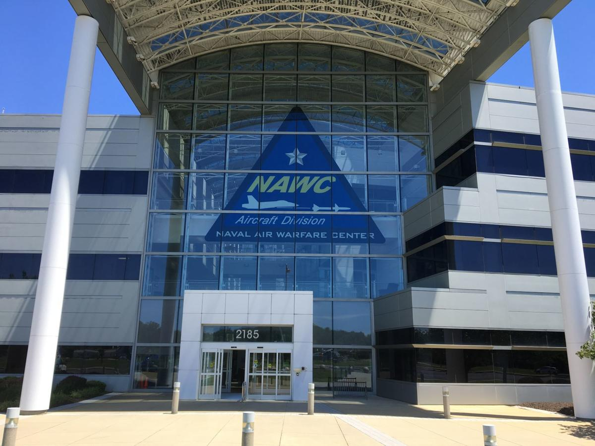 NAWCAD increases visibility with two-story tall logo installation