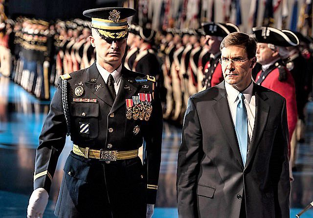 Secretary of the Army Esper welcomed back to Army Family