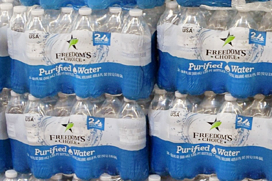 Freedom's Choice Purified bottled water recalled July 18, 2018
