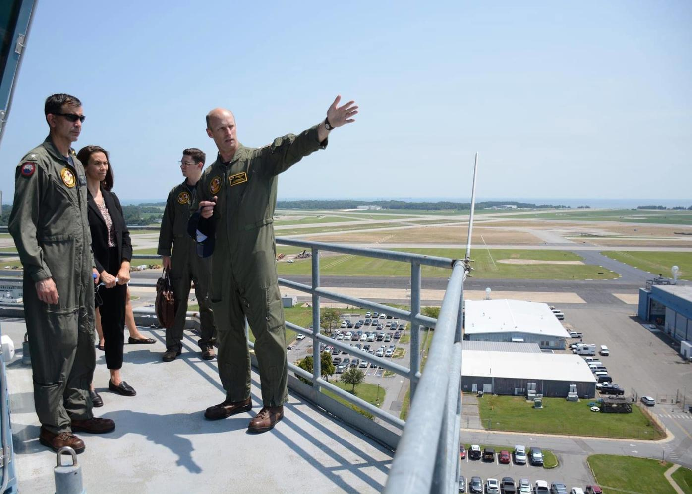 NDW Commandant visits Pax River, Webster Field