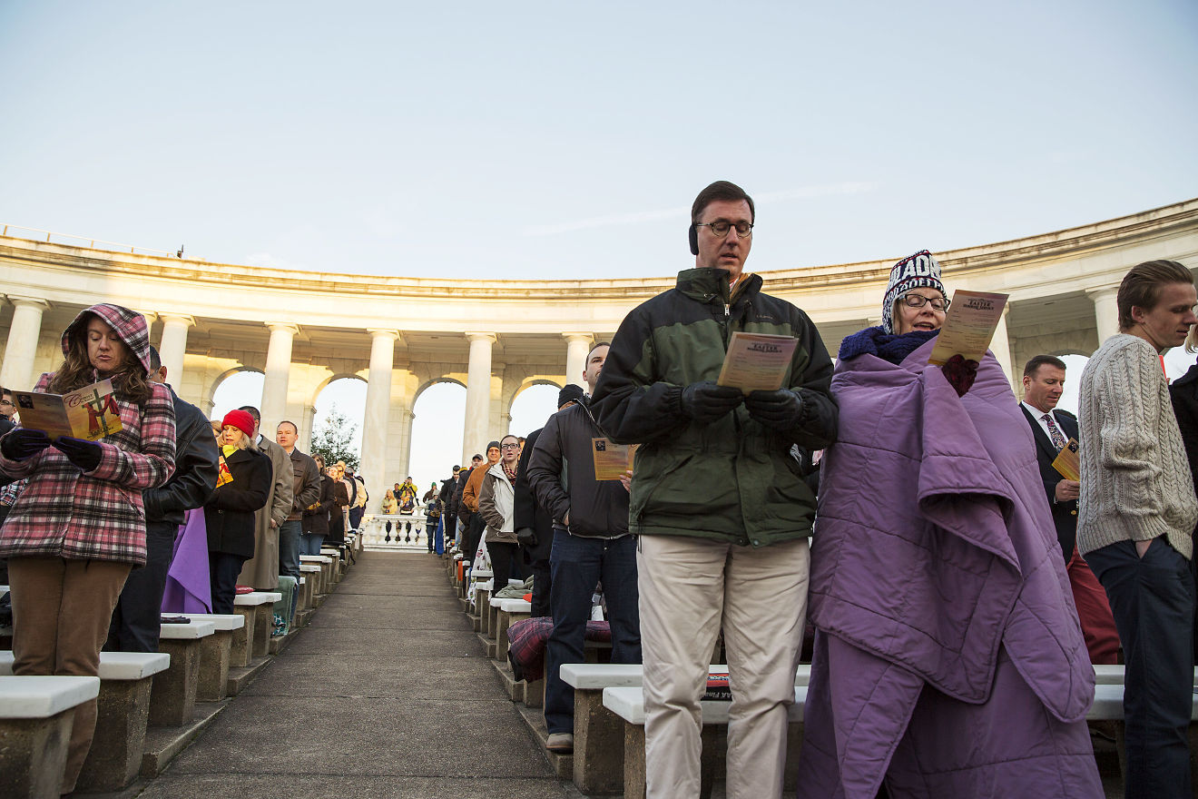 Attendees sing during last year's Easter Sunrise Service