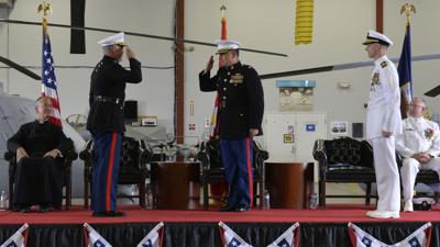 Navy's first unmanned test squadron changes command