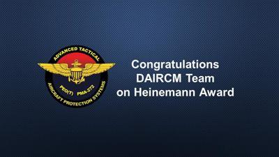 PMA-272 DAIRCM Team wins NAVAIR Commander's Award