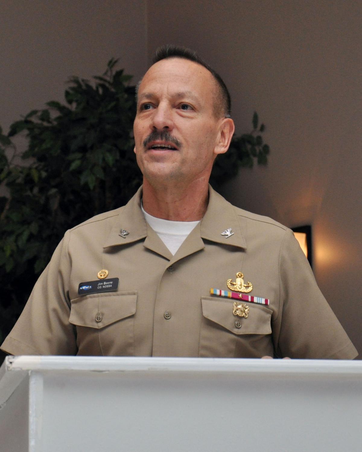 Capt. James Beene at NSASP COMREL