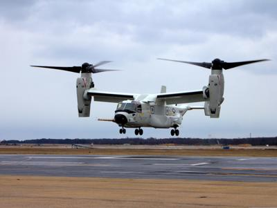 First Navy V-22 arrives in Patuxent River