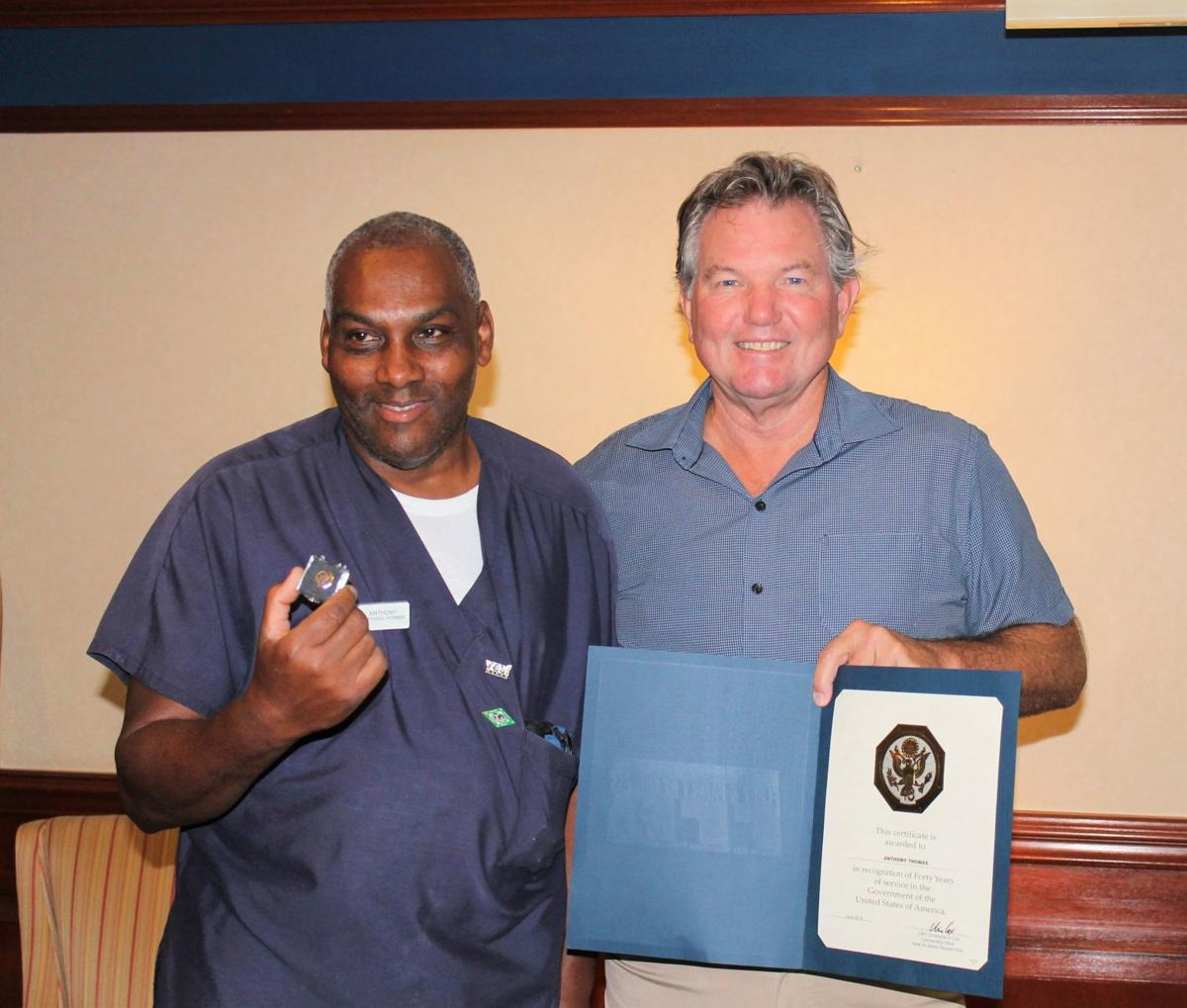 Thomas recognized for 40 years