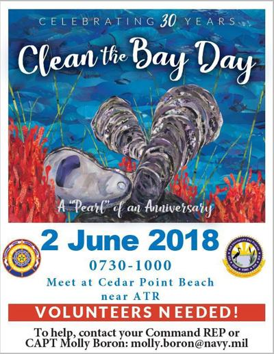 Clean the Bay Day volunteers needed for Pax River shoreline cleanup