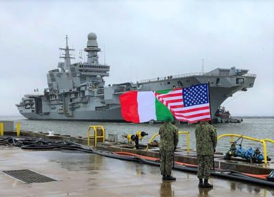 Italian aircraft carrier departs Norfolk, completing F-35B certification
