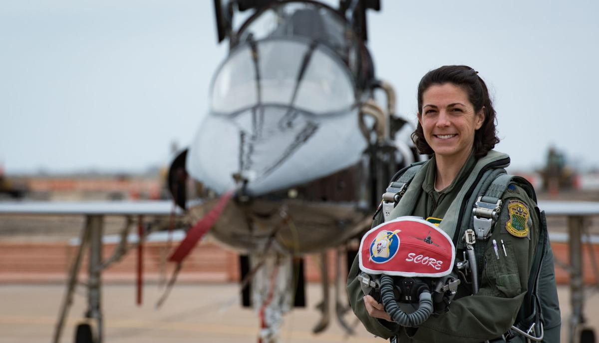 Fighter pilot takes inspiration to new heights
