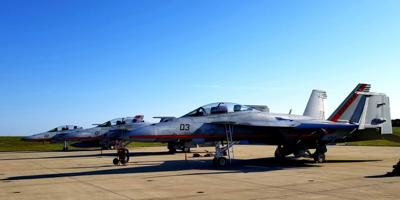 Test Pilot School maintainers ready three F/A-18s for busy day