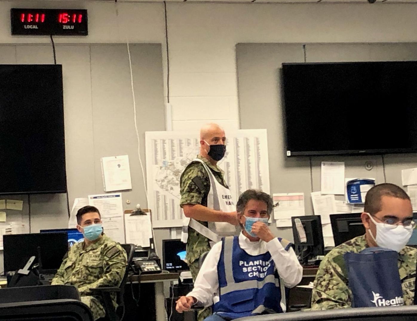 Training scenario simulates aircraft event, oil spill, life preservation