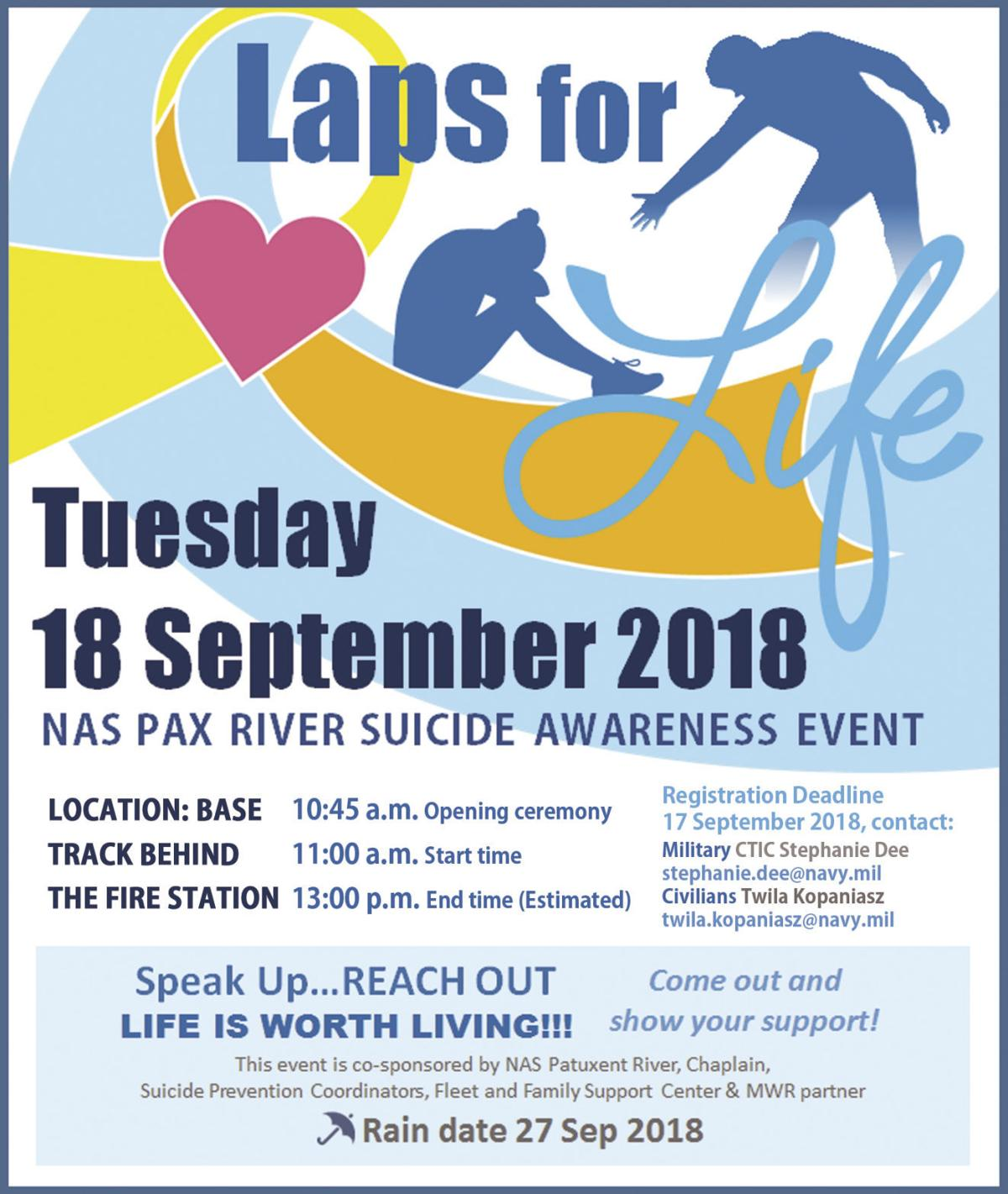 Laps for Life Sept. 18