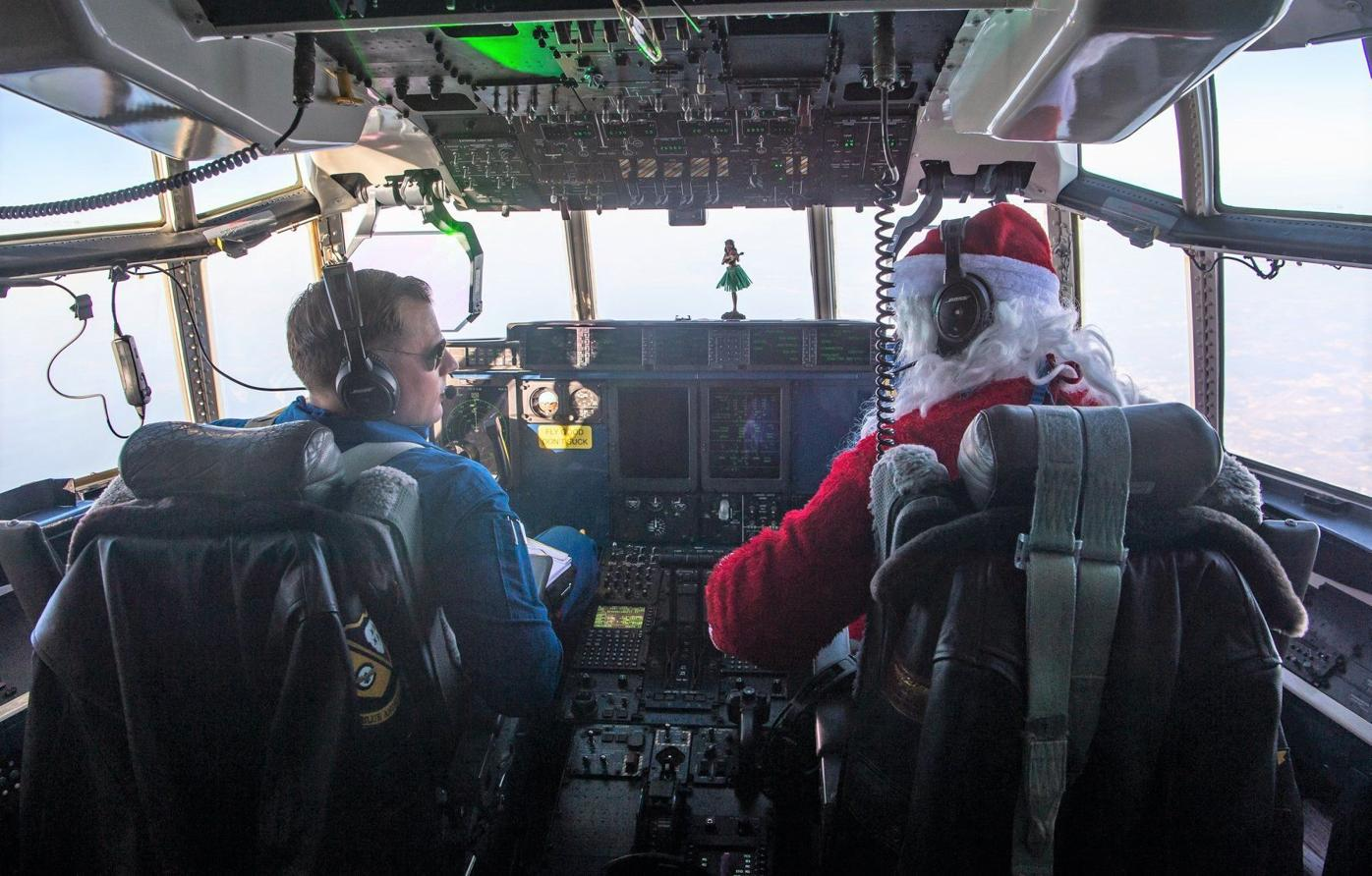 Navy's Blue Angels help Santa, Marines deliver toys