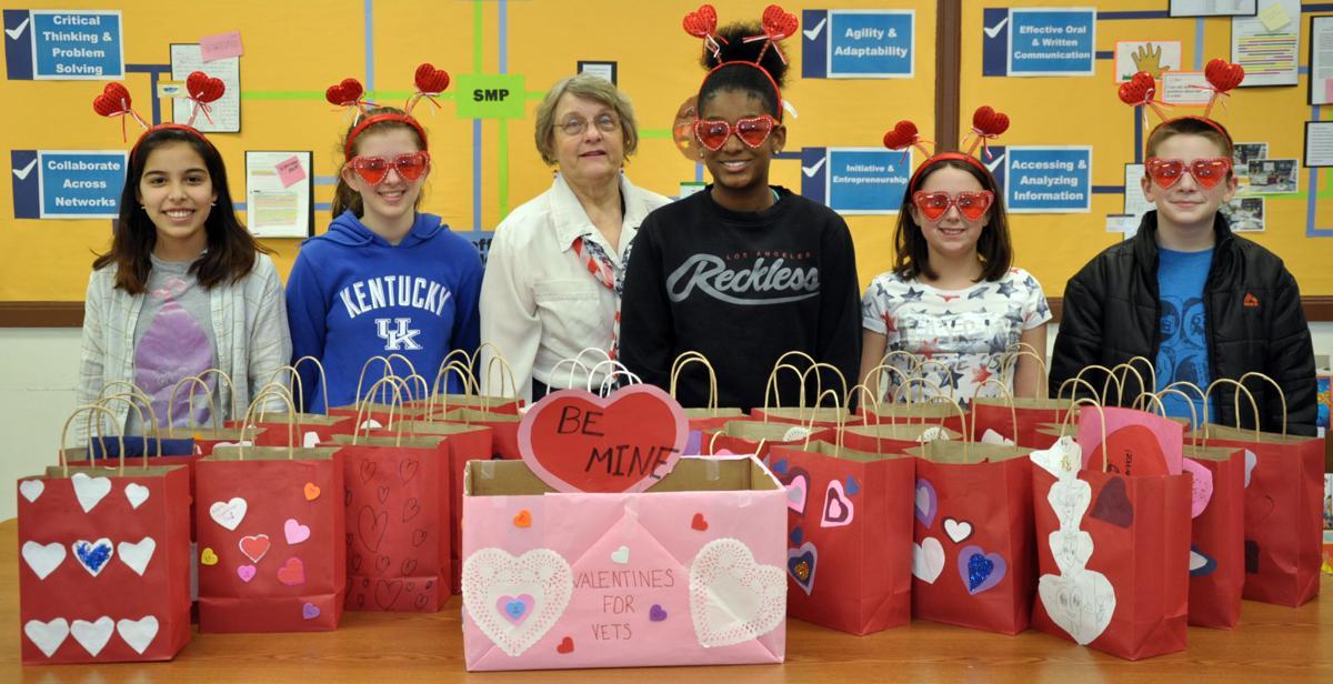 AVID Students at Dahlgren School Collect Valentines for Veterans