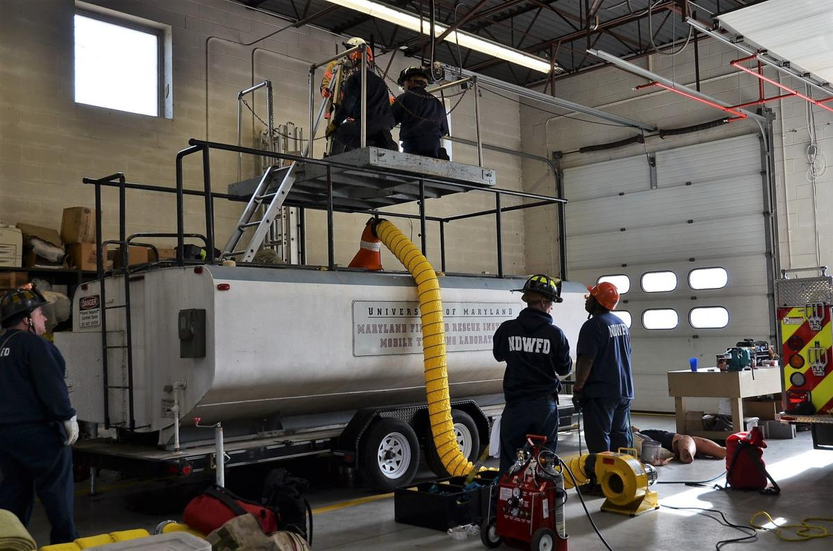 Firefighters complete technical rescue/confined space training