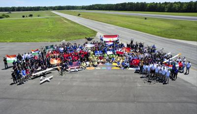 Unmanned aerial vehicle competition held at Webster Field