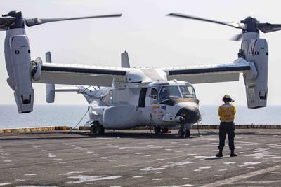 New Chiefs take a victory lap in the Navy's new Osprey