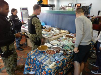 Thanksgiving dinner for all single, unaccompanied Sailors, Marines