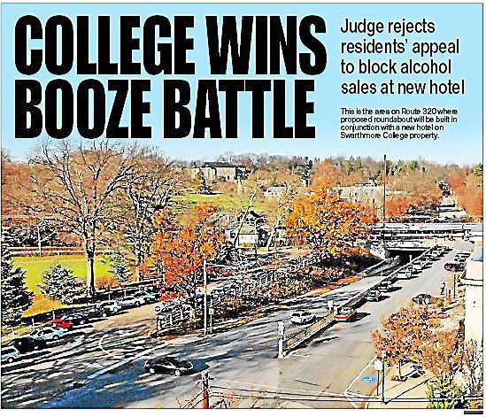 Judge: Swarthmore College hotel can serve alcohol