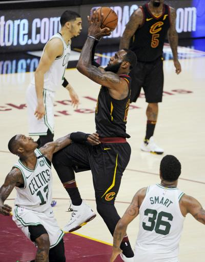 9d1303438 NBA Playoffs  Boston bound  LeBron scores 46