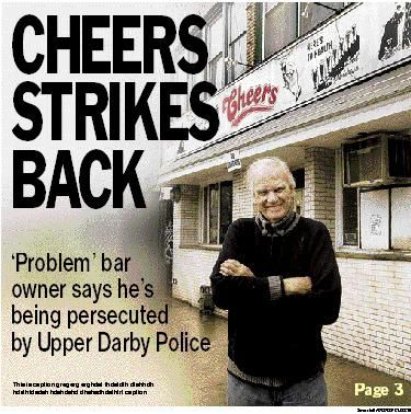 Spencer: Three Cheers for owner of Upper Darby bar? Not any longer