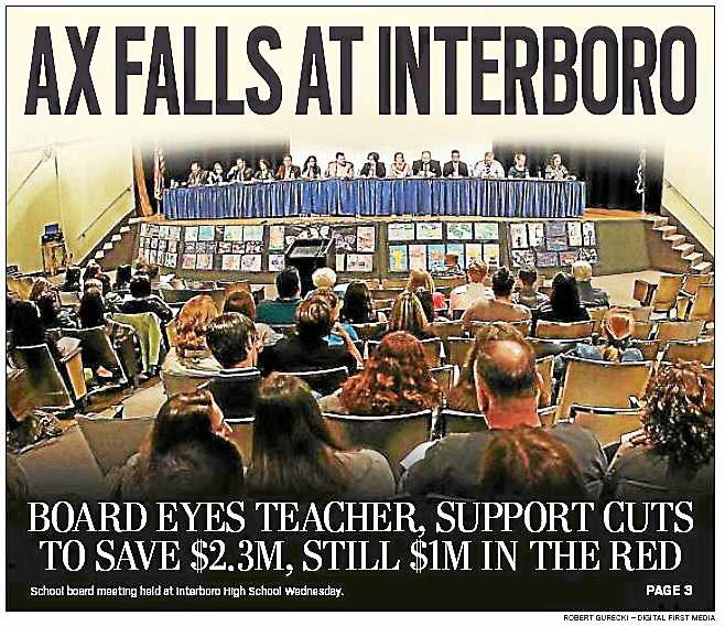 Interboro School Board eyes job cuts, tax hike to ease $3M budget crunch