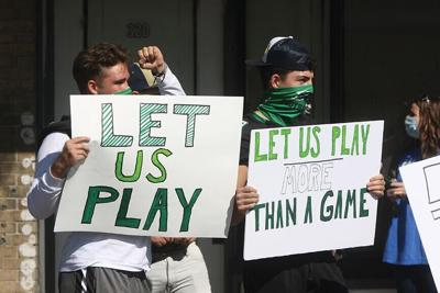 Football protest