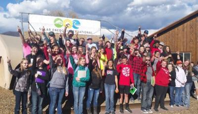 Eighth graders have hands-on solar lab