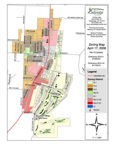 Cedaredge Zone Map - Pot