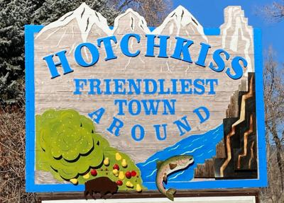 New Hotchkiss welcome sign