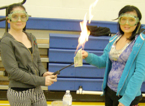 Flames, foam and fizz -- science in action