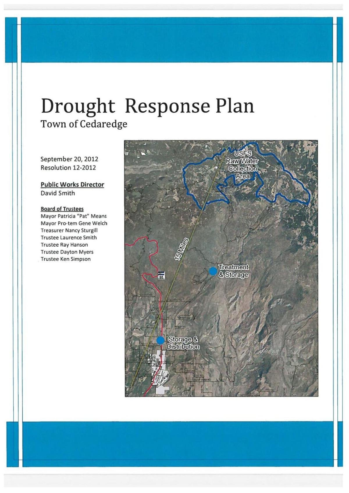 Drought Response Plan, 2012