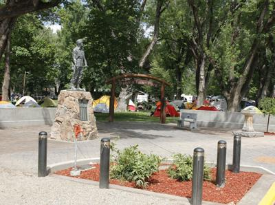Memorial space available still in Miner's Statue Plaza