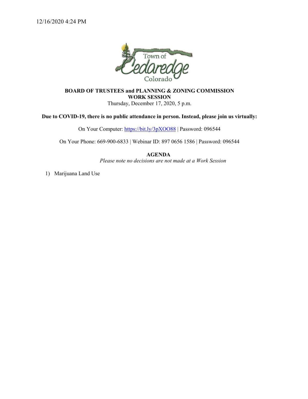 Dec. 17, 2020 Cedaredge work session packet