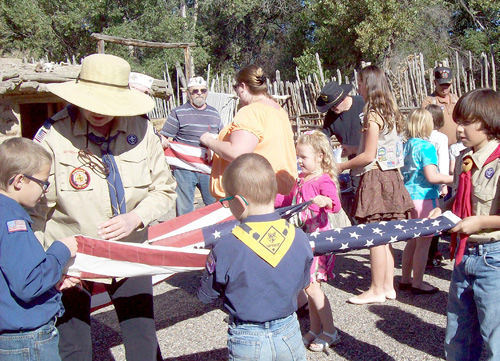 VFW, Scouts retire flags