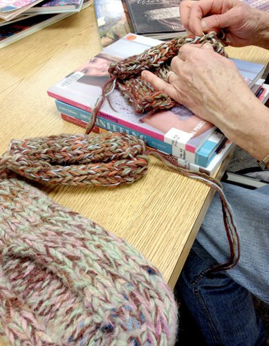 Spinning yarns, weaving tales and knitting sweaters