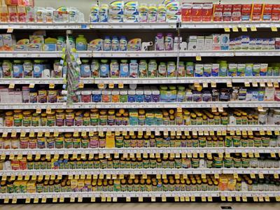 Vitamins at the store