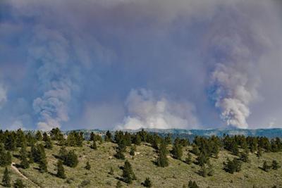 Pine Gulch Fire Smoke