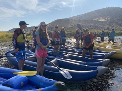 Hotchkiss students raft lower Gunnison