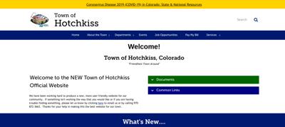 Screenshot Town of Hotchkiss -website