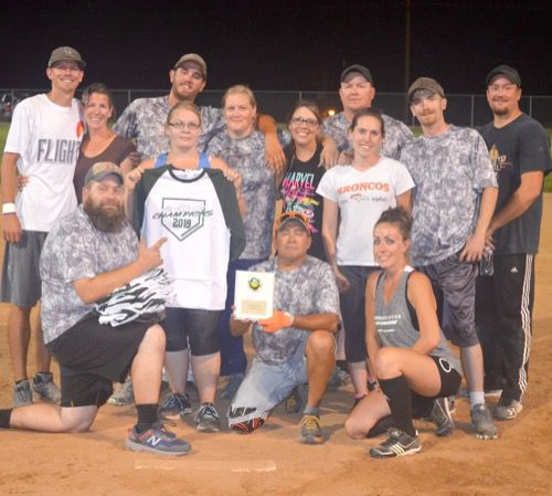 Coed softball ends Monday night season