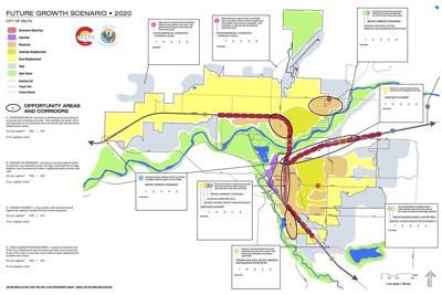 """Comprehensive Plan """"Future Growth Scenario"""" map"""