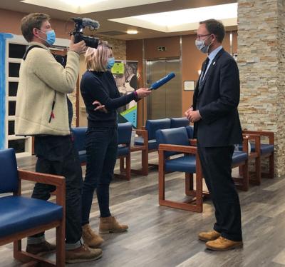 Rep. Matt Soper is interviewed by French TV