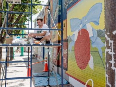 Mural returned to original after almost three years