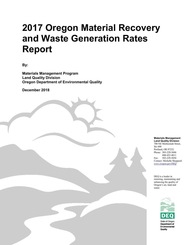 Oregon Recycling Report 2018