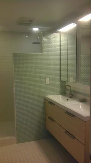 After Remodel Sink & Shower
